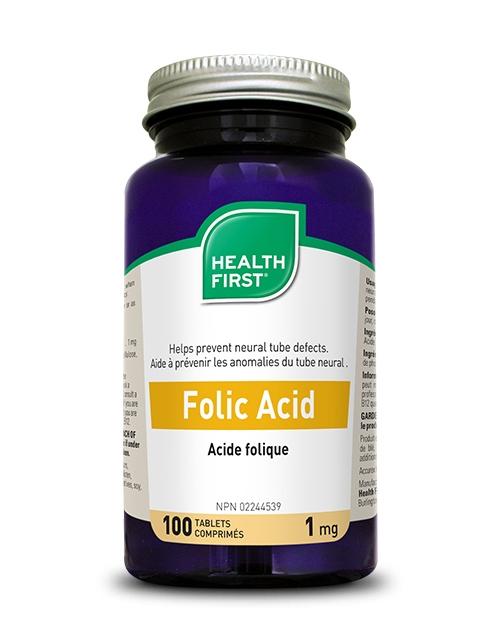 Folic Acid - 100 tablets