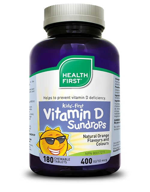 Kids'-first Vitamin D Sundrops - 180 chewable tablets