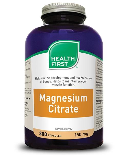 Magnesium Citrate - 300 capsules