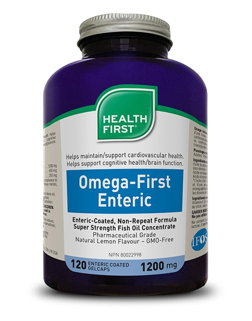 Omega-First Enteric - 120 enteric-coated gel caps