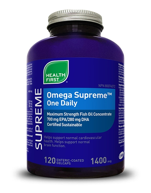 Omega Supreme™ One Daily - 120 enteric-coated gelcaps