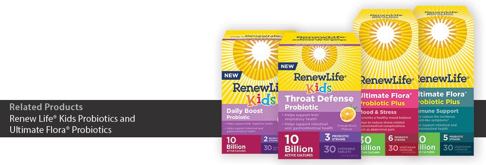 Renew Life® Kids Probiotics and Ultimate Flora® Probiotics