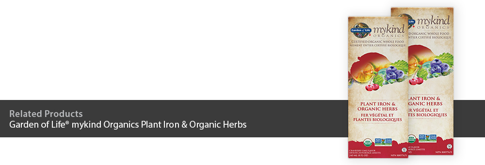 Garden of Life mykind Organics Plant Iron & Organic Herbs