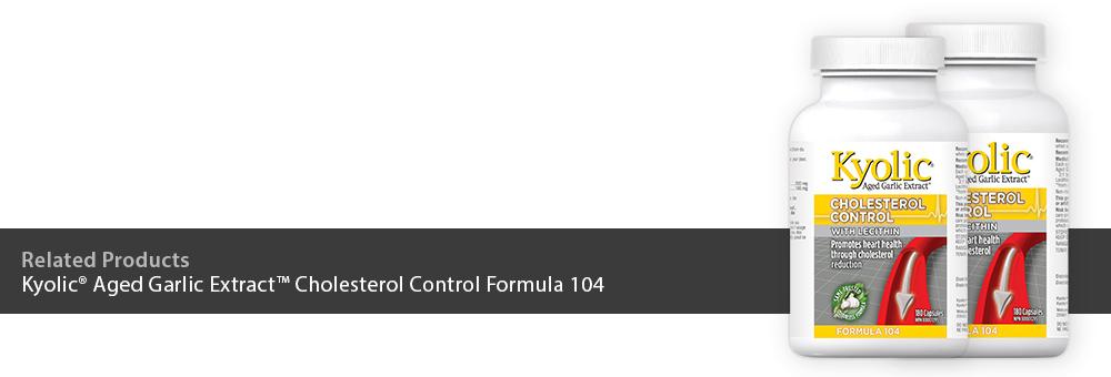 Kyolic Aged Garlic Extract Cholesterol Control Formula 104