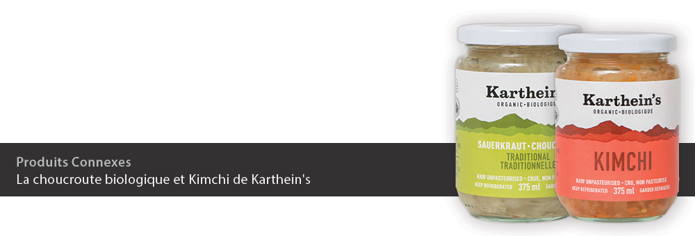 La choucroute biologique et Kimchi de Karthein's