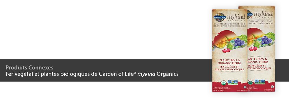 Fer végétal et plantes biologiques de Garden of Life mykind Organics