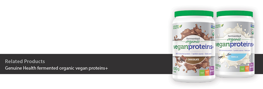 Genuine Health fermented organic vegan proteins+