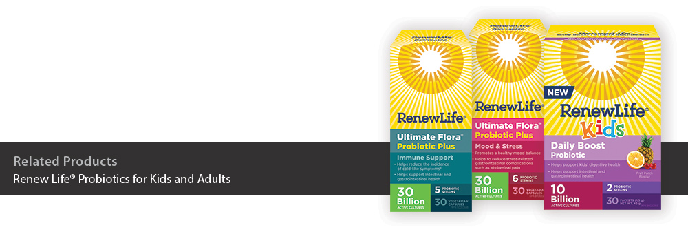 Renew Life Probiotics for Kids and Adults