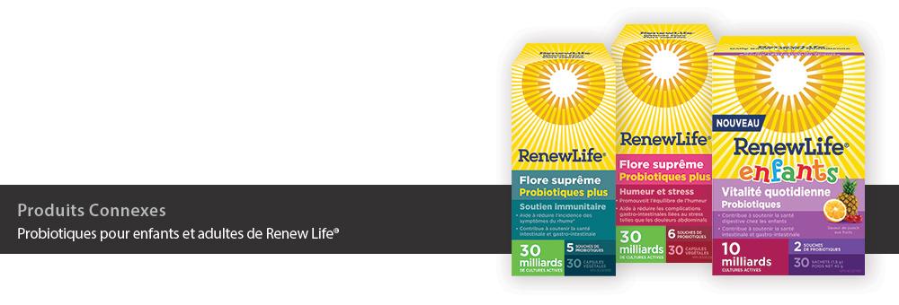 Probiotiques pour enfants et adultes de Renew Life