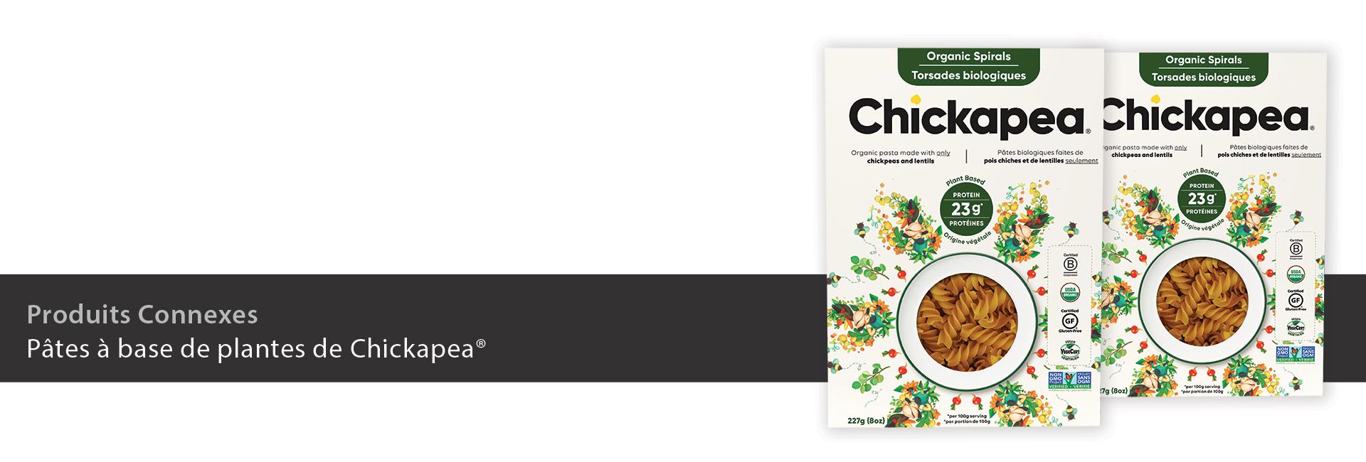 Pâtes à base de plantes de Chickapea